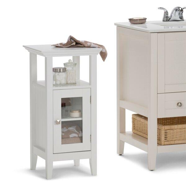 Acadian Floor Storage 14.97 W x 30.04 H Cabinet by Simpli Home