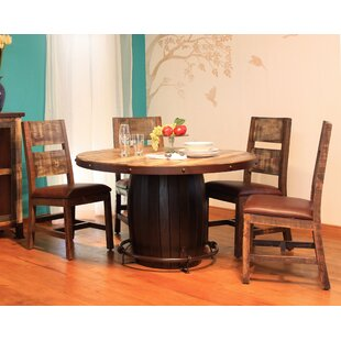 Round 5 Piece Solid Wood Dining Set ByArtisan Home Furniture
