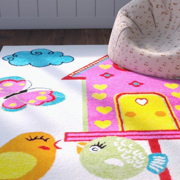 Jodie Kids Bird Pink/Blue Area Rug by Zoomie Kids