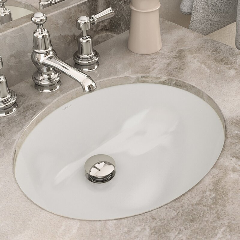 Bon Carlyn® Classically Redefined Ceramic Oval Undermount Bathroom Sink With  Overflow