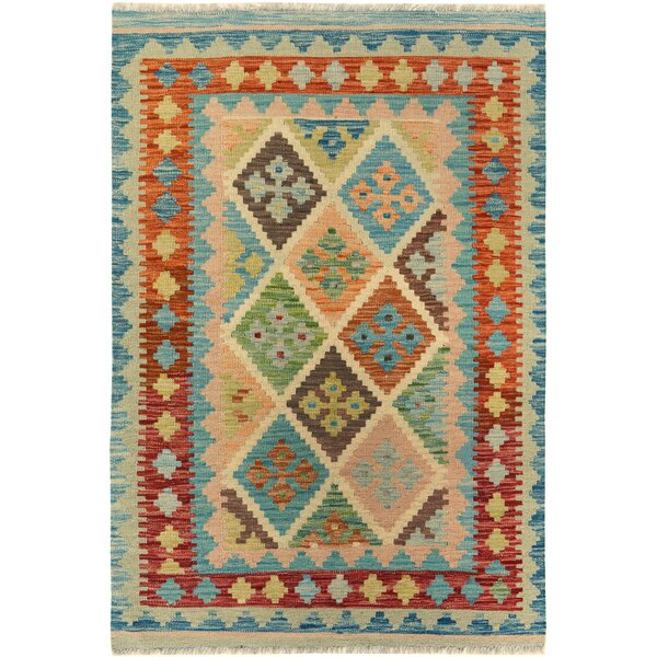 One-of-a-Kind Bakerstown Kilim Hand-Woven Gray/Blue Area Rug by Bloomsbury Market