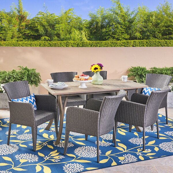 Hoopes 7 Piece Dining Set by Highland Dunes