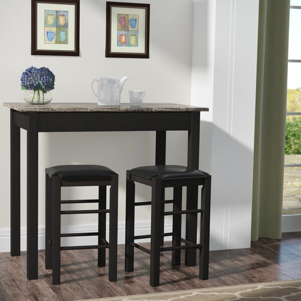 #1 Sheetz 3 Piece Counter Height Dining Set By Winston Porter 2019 Sale