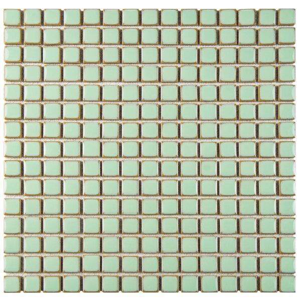 Morgan 0.72 x 0.72 Porcelain Mosaic Tile in Light Green by EliteTile