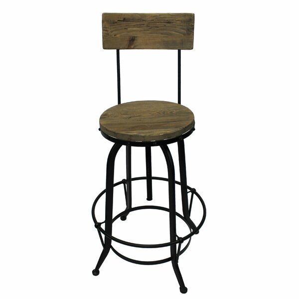 Stockbridge Adjustable Height Swivel Bar Stool by Trent Austin Design