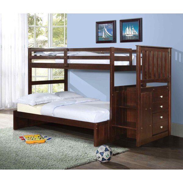 Rangel Twin over Full Bunk Bed with Drawers by Harriet Bee