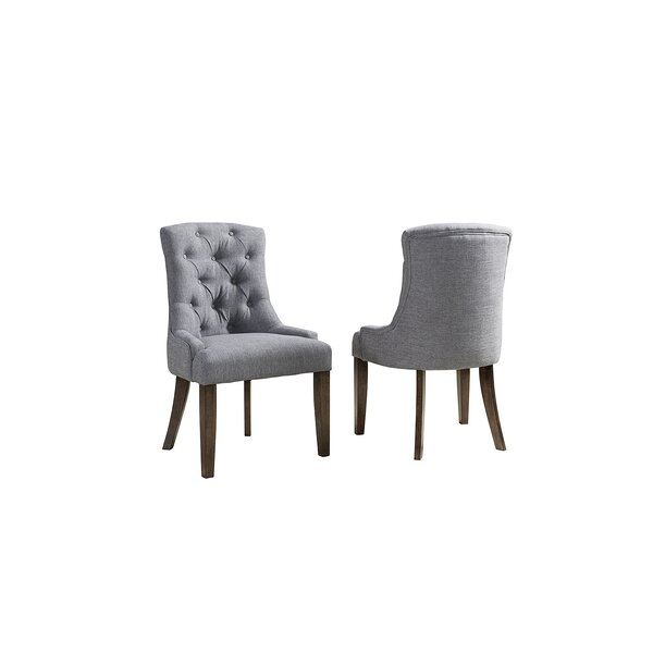 Brookshire Upholstered Dining Chair (Set of 2) by Rosecliff Heights