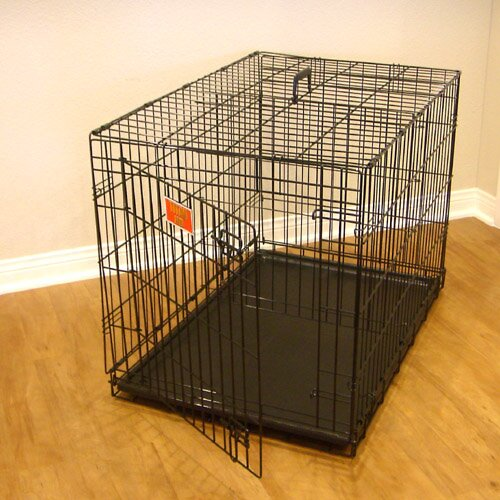 Single Door Folding Pet Crate by Majestic Pet Products