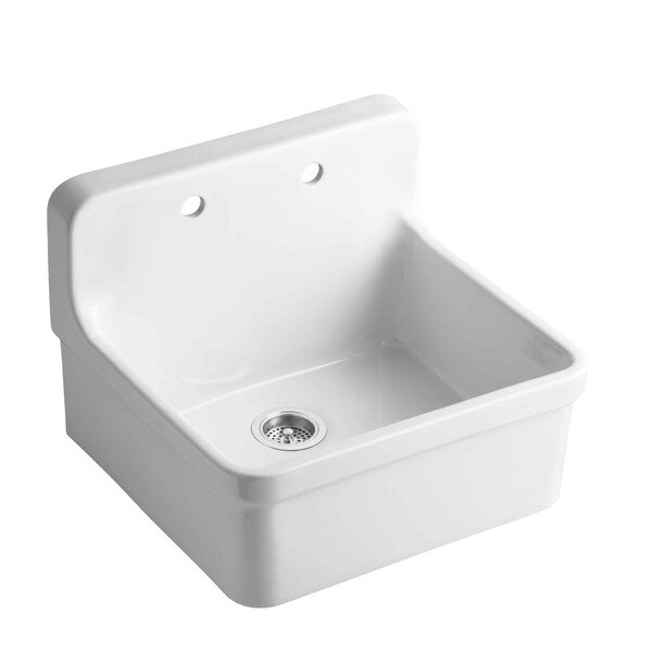 Gilford 24 x 22 x 9-1/2 Wall-Mount/Top-Mount Single-Bowl Kitchen Sink