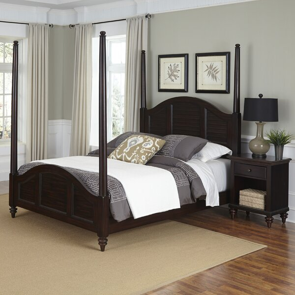 Harrison Traditional Four Poster 2 Piece Bedroom Set by Beachcrest Home