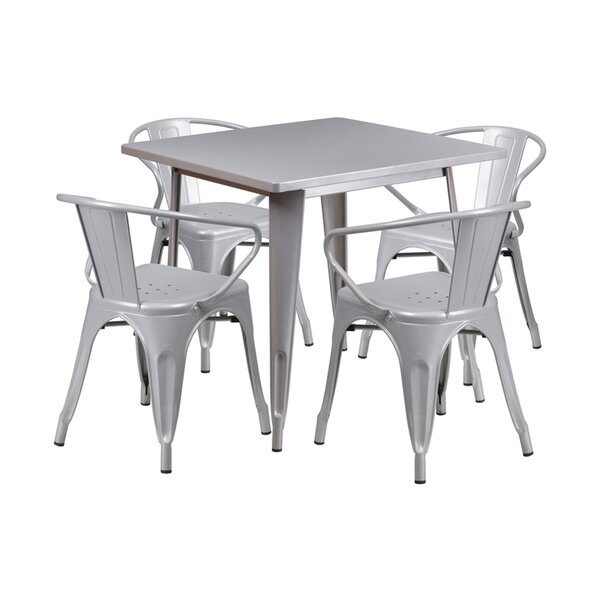 Francky Square Indoor-Outdoor 5 Piece Dining Set by Ebern Designs