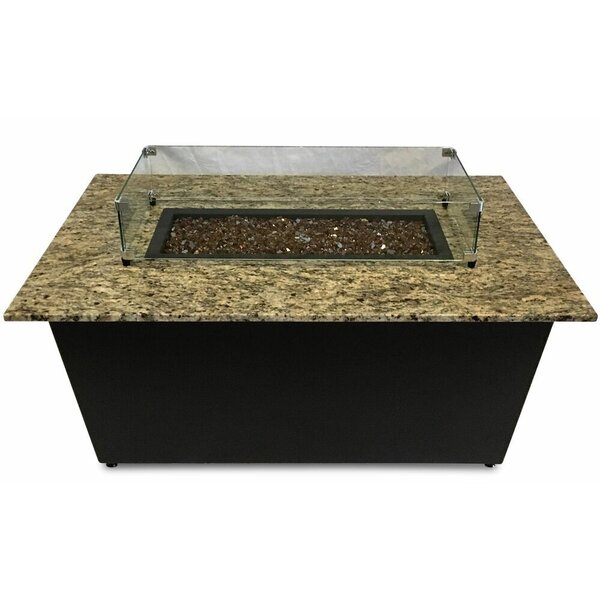 The Monaco Aluminum Gas Fire Pit Table by Firetainment