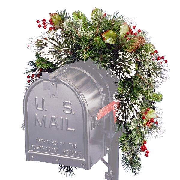 Pine Mailbox Swag by Three Posts