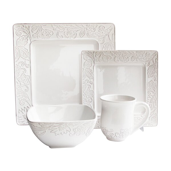Belinda 16 Piece Dinnerware Set, Service for 4 by Design Guild