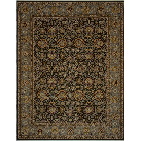One-of-a-Kind Branner Hand-Knotted Black/Brown 9'3 x 12'2 Wool Area Rug