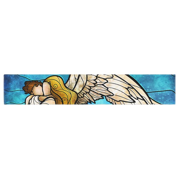 Mandie Manzano in the Arms of the Angel Table Runner by East Urban Home