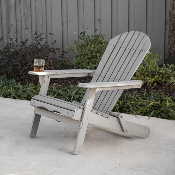 Sarandi Outdoor Wood Adirondack Chair by Longshore Tides Longshore Tides
