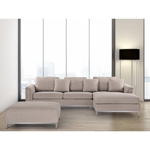 Catlett Reversible Sectional with Ottoman by Wade Logan