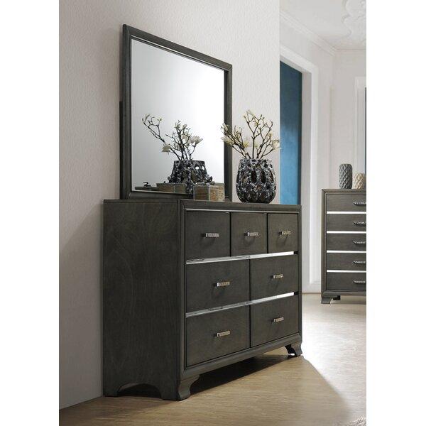 Hunedoara 7 Drawer Double Dresser with Mirror by Ivy Bronx