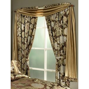 Wonderland Window Nature/Floral Rod Pocket Curtain Panels (Set of 2)