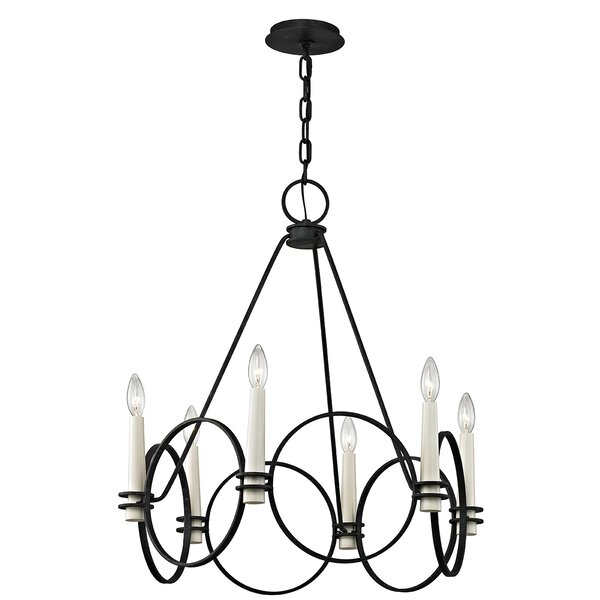 Margarito 6 - Light Candle Style Wagon Wheel Chandelier By Gracie Oaks