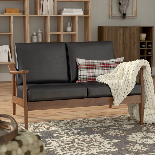 Leaman Mid-Century Modern Loveseat by Millwood Pines