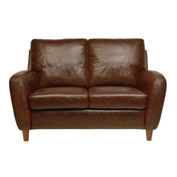 Corine Leather Loveseat
