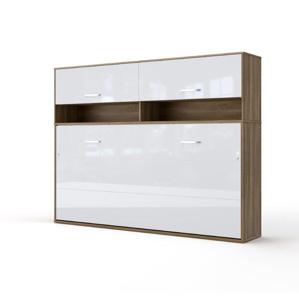 Sambour Horizontal Full Storage Murphy Bed with Mattress by Orren Ellis Orren Ellis