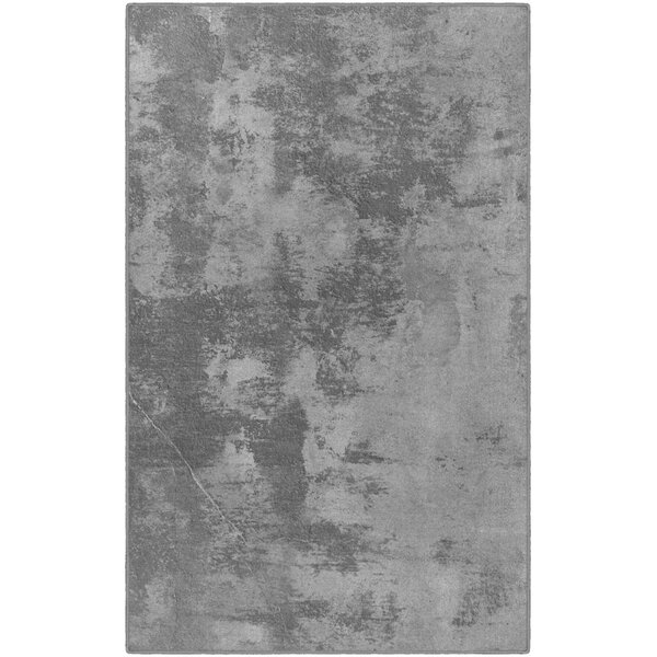 Bodie Abstract Gray Area Rug by Williston Forge