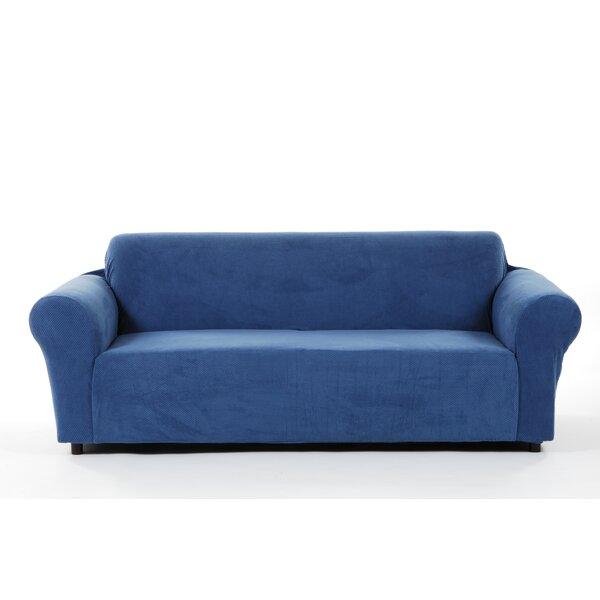 Best #1 Box Cushion Sofa Slipcover By Latitude Run Purchase