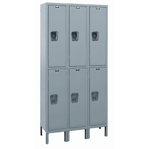 Maintenance-Free 2 Tier 3 Wide School Locker by Hallowell