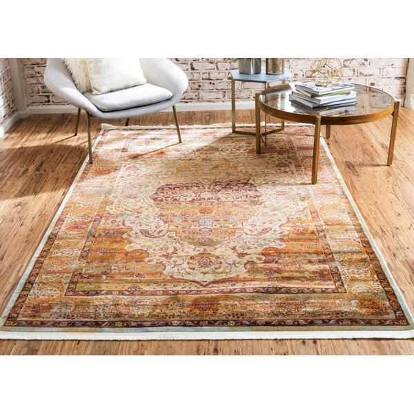 Lonerock Orange Area Rug by Bungalow Rose