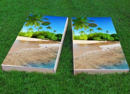 Palm Cornhole Game (Set of 2) by Custom Cornhole Boards