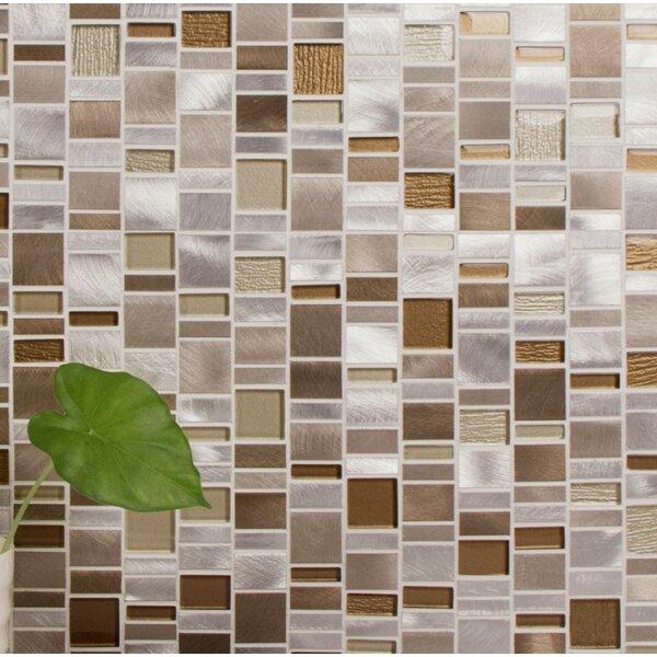 Twilight Random Sized Aluminum/Glass Tile in Gray/Beige by WS Tiles