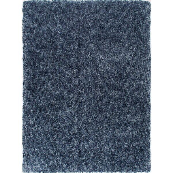 Chelsea Solid Shag Blue Area Rug by Christian Siriano