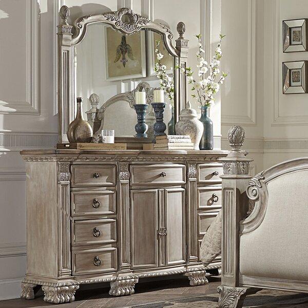 Chirk 9 Drawer Dresser with Mirror by Astoria Grand