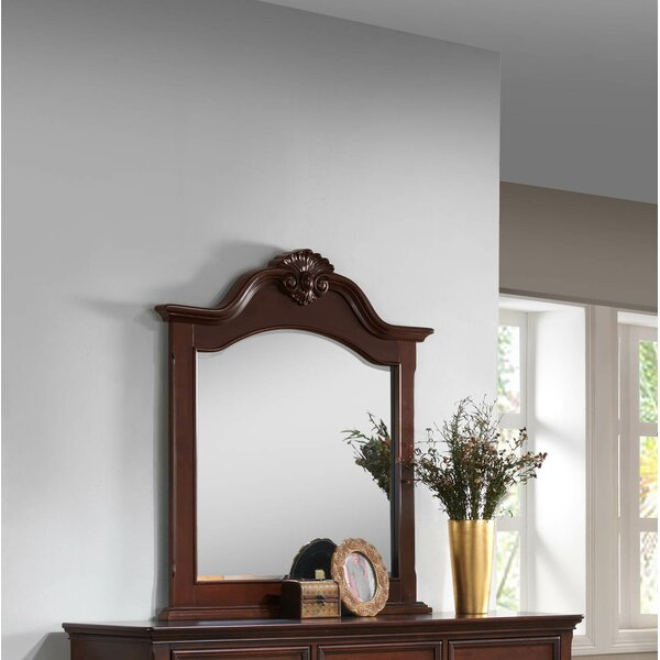 Haney Wooden Frame Accent Mirror by Alcott Hill