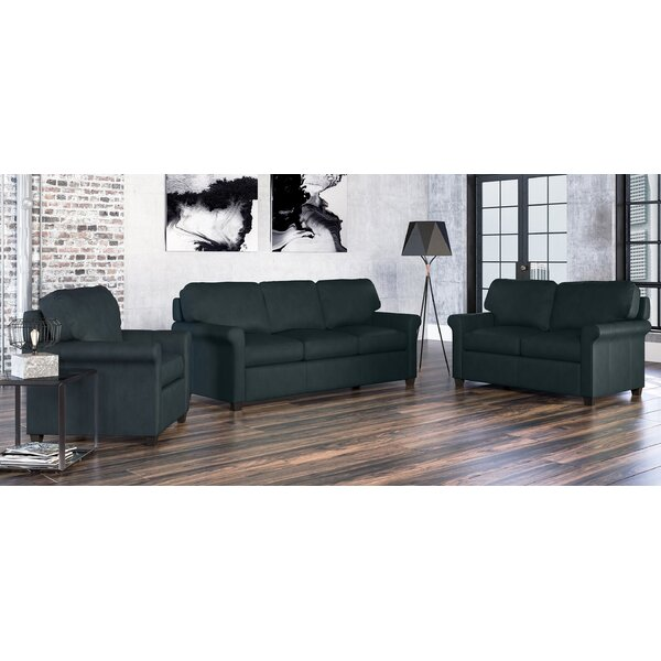 Menno 3 Piece Leather Living Room Set by Westland and Birch