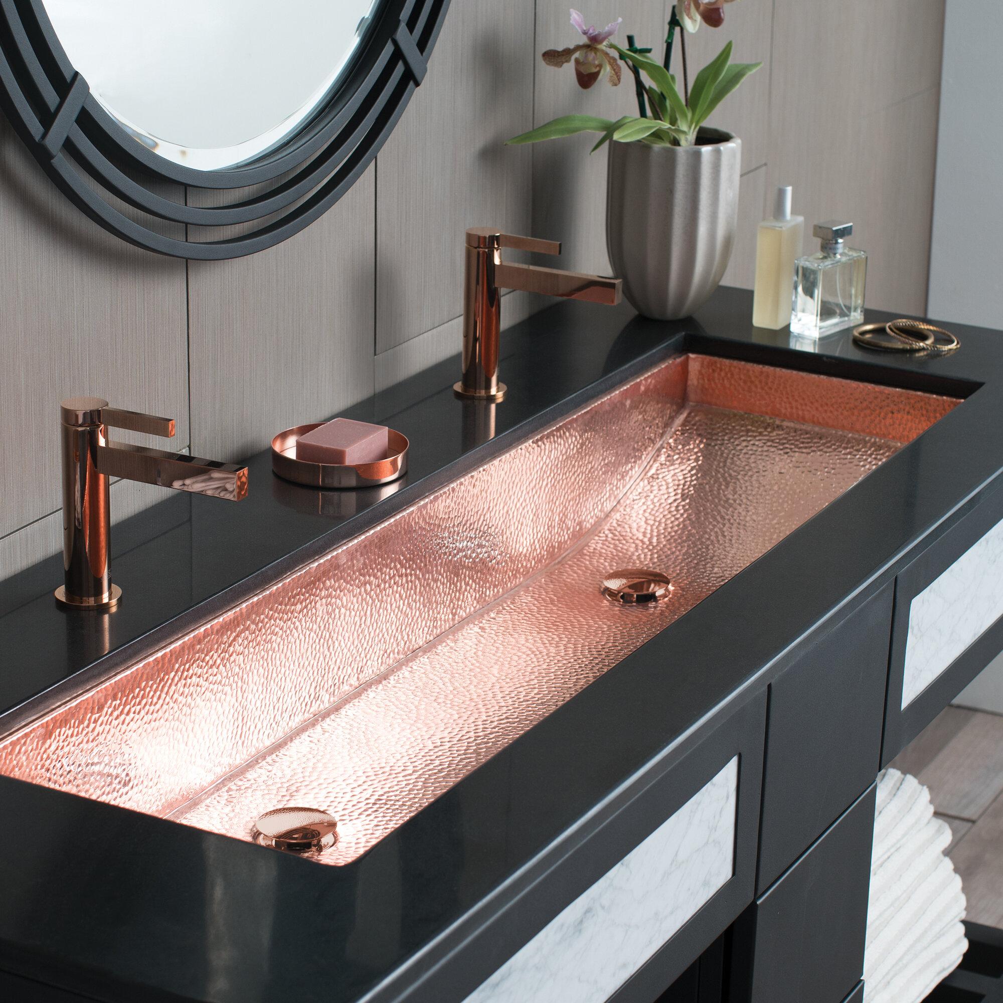 Trough Metal 48 Bathroom Sink