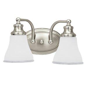 Lyman 2-Light Vanity Light  sc 1 st  Wayfair & Satin Two Tone Light Fixture | Wayfair azcodes.com