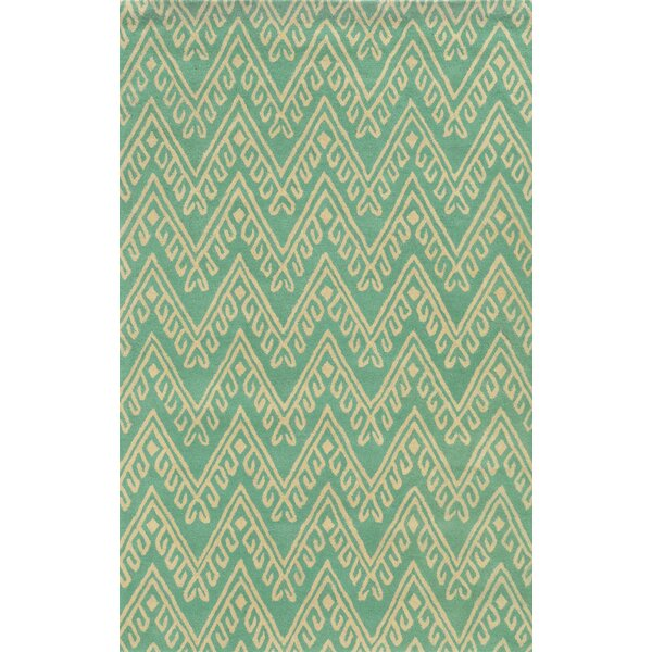 Belize Hand-Tufted Teal Area Rug by Meridian Rugmakers