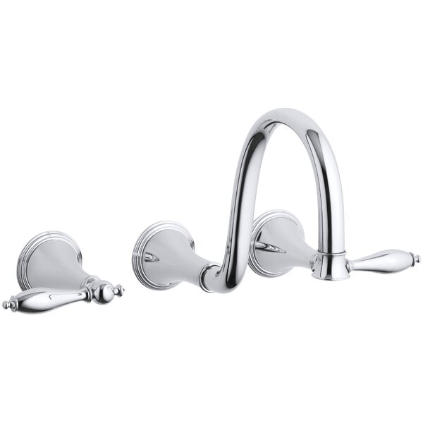 Finial Wall-Mount Bathroom Sink Faucet by Kohler