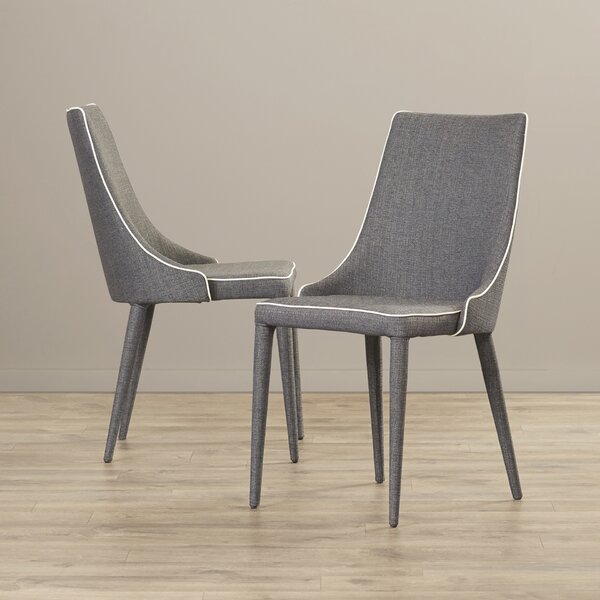 Jason Linen Upholstered Side Chair in Gray (Set of 2) by Langley Street? Langley Street�?�