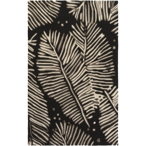 Acosta Hand-Tufted Charcoal/Ivory Indoor/Outdoor Area Rug by Bay Isle Home