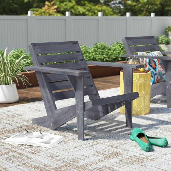 DeKalb Solid Wood Adirondack Chair by Ivy Bronx Ivy Bronx