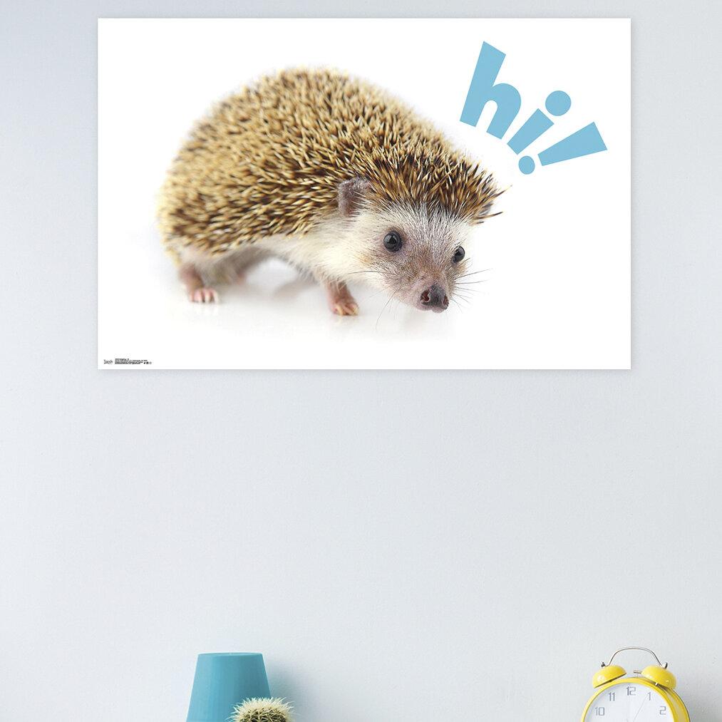 East Urban Home Hedgehog Hi Paper Print Wayfair