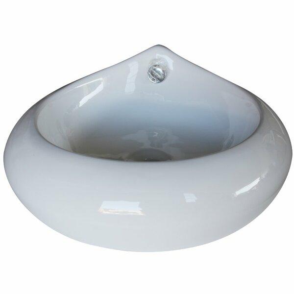 Ceramic Specialty Vessel Bathroom Sink by Arsumo