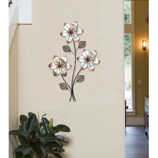 Eclectic 3 Stem Floral Wall Décor