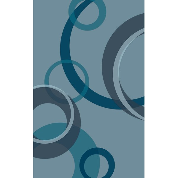 Jakarta Contemporary Geometric Teal Area Rug by Latitude Run