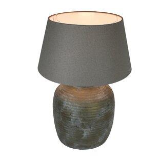 22 inch lamp shade wayfair urban designs 22 inch antique bronze grey wash ceramic table lamp aloadofball Images